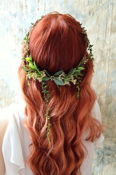 Goddess leaf crown Woodland headpiece Forest by gardensofwhimsy