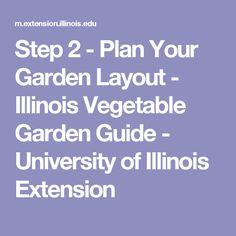Step 2 - Plan Your Garden Layout - Illinois  Vegetable Garden Guide - University of Illinois Extension
