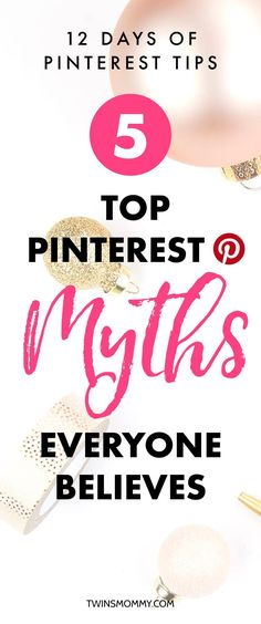 OMG! Do you believe these Pinterest myths? Figuring out the right Pinterest tips can be a challenge if you're a brand new Pinner. Learn the top myths so that you can start growing your blog traffic using Pinterest marketing tips. #pinterestmarketing #pinteresttips