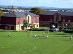 Telford Campus Accommodation football pitch.