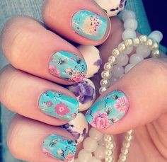 Azure Rose #AzureRoseJN a522 Try out the latest & the greatest thing in nail art! You can DIY at home for a fraction of the cost of a salon manicure, and it lasts just as long!
