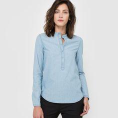 Image Bluzka koszulowa bawełniana, z długim rękawem R essentiel