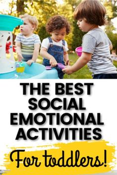 Try these social activities for toddlers that will teach them how to interact with other children and adults. Learn ways to teach your toddler about emotions and how to express them through play, daily routines, and books. Social Emotional Activities, Social Emotional Development, Toddler Development, Indoor Activities For Toddlers, Toddler Learning Activities, Family Activities, Preschool Activities, Toddler Chores, Toddler Behavior