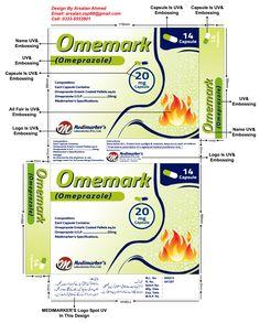 OMEMARK (Omeprazole) 20mg 14 Capsule Unit Carton Design