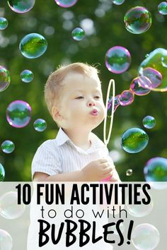 From bubble science, to glow-in-the-dark bubbles, to frozen bubbles, this list of 10 fun activities to do with bubbles will be a real hit with your kids this summer!