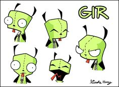 The+Many+Faces+of+Gir+by+Cocoru.deviantart.com+on+@DeviantArt