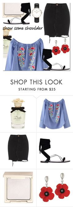 """""""Spring chic"""" by lynksmichelle on Polyvore featuring Dolce&Gabbana, River Island, Valentino, Jouer, chic, women, contestentry, Spring2017 and showsomeshoulder"""