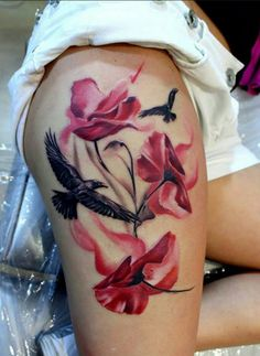 Poppy Tattoos Designs And Styles With Meaning. Beautiful Poppy Flower Tattoo Designs For Females. Girl Are Like These Tattoos More Than Men. Tattoos Masculinas, Eagle Tattoos, Body Art Tattoos, Tribal Tattoos, Tattoos For Guys, Cool Tattoos, Celtic Tattoos, Tatoos, Sexy Tattoos For Women
