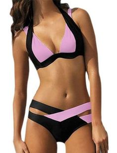 Ninimour Womens Bandage Cut Swimsuit Swimwear Bikini Set at Amazon Women's Clothing store: