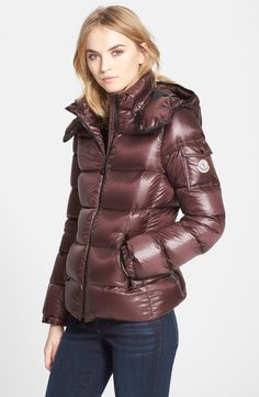 Moncler 'Berre' Down Puffer Coat with Detachable Hood