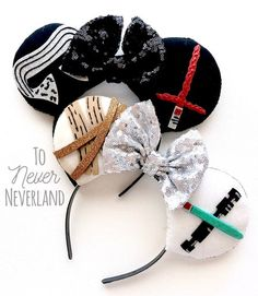 Your place to buy and sell all things handmade Diy Disney Ears, Disney Mickey Ears, Disney Diy, Disney Star Wars, Disney Crafts, Minnie, Mickey Ears Diy, Disney Headbands, Ear Headbands