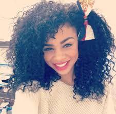 black big curls