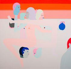 Richard Colman, 'Three Heads (Orange)', 2015