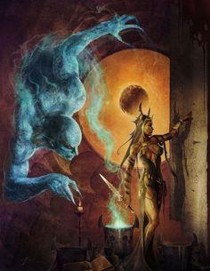 f Sorceress summoning dinji Matters of the Learned by JasonEngle.deviantart.com on @deviantART