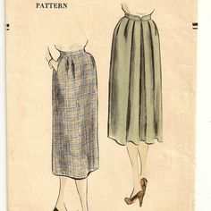 Vogue Classic Skirt Pattern by SoSewSome on Etsy, $18.00