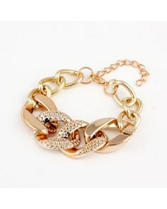 Gold Plated Alloy Chain Chunky Bracelets