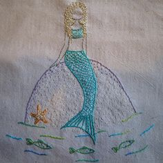 mermaids embroidery pattern pdf by LiliPopo on Etsy