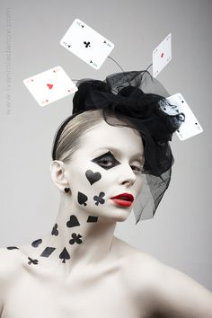 Can you use this photo as inspiration for #Halloween?  #Poker face: Photo by Photographer Ivan Mladenov.  #makeup #costume