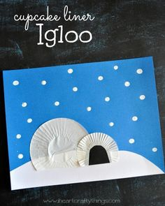 Cupcake Liner Igloo Craft for Kids from www.iheartcraftythings.com