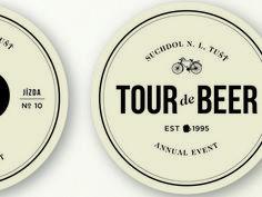 Tour de Beer Mat — Designspiration