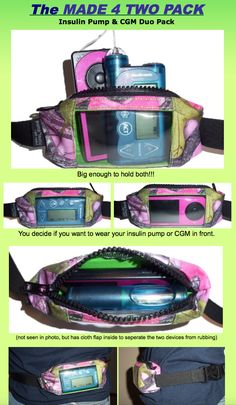 Check out our NEWEST pack... The MADE 4 TWO Pack!!! This pack is big enough to hold your Insulin Pump and Dexcom G4 CGM... BOTH in ONE pack, but without the bulk!!!  I have some listed on the website now, but will slowly be adding all the other fabric designs) Get yours now at: mypumptastic.com