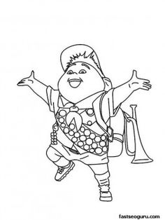 Printable Disney up the movie happy Russell coloring pages - Printable Coloring Pages For Kids