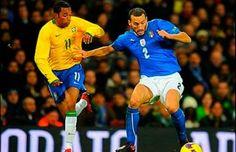 Italia  vs Brasil En Vivo por ESPN partido Amistoso de preparación rumbo al Mundial Brasil 2014 juegan hoy Jueves 21 de Marzo del 2013 a partir de las 14:45hrs Centro de México en el Stade de Genève Ginebra Suiza.