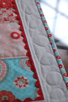 From: Lots of Pink Here  Table Top Quilt