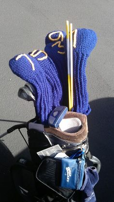 Crocheted Golf Club Covers.  Going to do this for my dad for Christmas... I think.