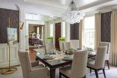 A spacious family home is full of natural light, textures and patterns, and smart use of color. The home features a welcoming transitional style, with contemporary, traditional and cottage touches throughout.