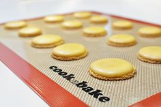 Easy Baking with the New Silicone Baking Mat from cooknbake. Fits Half Sheet. Save Money on Baking Paper with this Long Lasting Mat - Lifetime Warranty by cooknbake