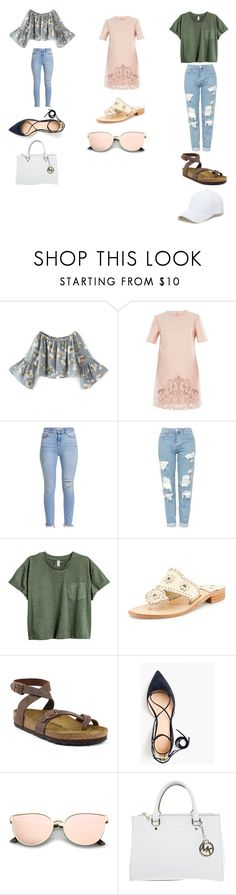 """""""Stitch Fix"""" by brisa-testela on Polyvore featuring STELLA McCARTNEY, Topshop, Jack Rogers, Birkenstock, J.Crew, Michael Kors and Sole Society"""