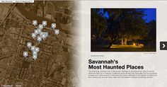 Haunted Savannah Story Map - great resource!