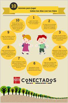 10 razones para jugar todos los días con tus hijos #infografia #infographic #education