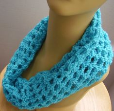 Cowl Scarf Teal Easy-Care Acrylic Tube Scarf | Etsy Tube Scarf, Cowl Scarf, Crochet Gifts, Hand Crochet, Handmade Shop, Etsy Handmade, Acrylic Tube, Creative Gifts, Online Shopping