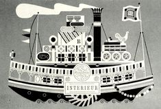Steamboat by Mary Blair 1954