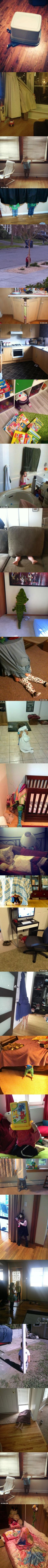 These Kids Are Hilariously Bad At Hide And Seek. This Had Me Laughing So Hard…