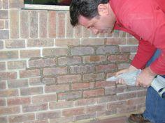 How to lay brick veneer.