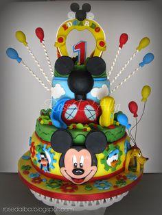 ROSE D' ALBA cake designer: Club house Disney cake per Edoardo
