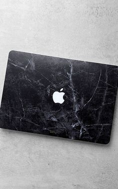 Happy Plugs Macbook Air Black Marble Laptop Skin via @bestchicfashion