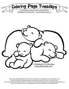 Картинки по запросу спящий медведь раскраска
