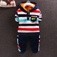 2016 winter baby boys christmas outfits thicken warm clothing set children hoodies+pants boys 2 pcs tracksuit sets kids clothes
