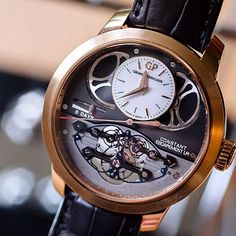 girardperregaux's photo: The groundbreaking Constant Escapement LM clad in pink gold.  Wooowww!!