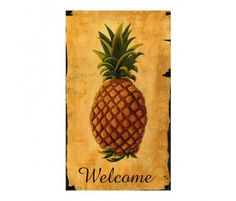 Pineapple is a sign of hospitality.