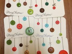 Diy christmas cards simple button ornaments 40 New Ideas Homemade Christmas Cards, Merry Christmas Card, Christmas Greeting Cards, Christmas Greetings, Handmade Christmas, Homemade Cards, Noel Christmas, Christmas Crafts, Christmas Decorations