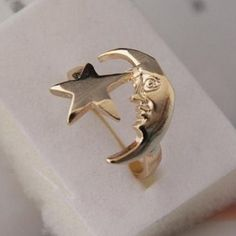 $2.84 Fashion Star and Moon Pattern Cuff Ring For Women