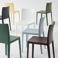 Colored Dining Chairs, Dining Table Chairs, Garden Chairs, House, Vegan Food, Furniture, Design, Home Decor, Outdoor