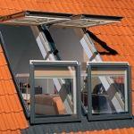 Ferestre de mansardă, scări de acces la pod, fereastra preSelect – FAKRO, Fakro - produse, Fakro - noutăţi, noutăţi 2011, fereastra Balcon FGH-V P2 Galeria