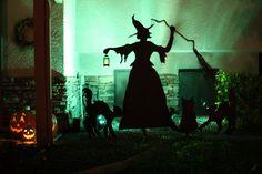 garden decor | Halloween Sinister Sorceress and her Menacing Felines | Sense-ational ...