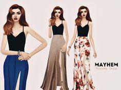 Roxanne Dress by NataliMayhem at TSR via Sims 4 Updates